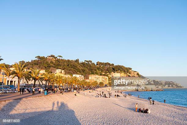 beach in nice - nice france stock pictures, royalty-free photos & images