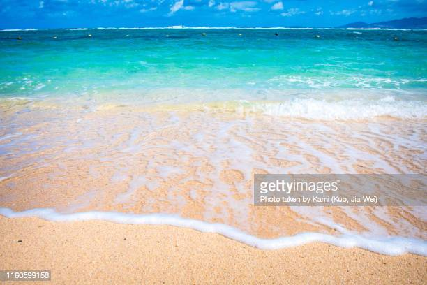 beach in okinawa - seascape stock pictures, royalty-free photos & images