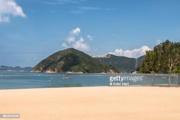 Beach in Repulse bay in Hong Kong island on a sunny day.