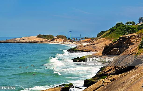 A beach in Rio de Janeiro between Copacabana and Arpoador