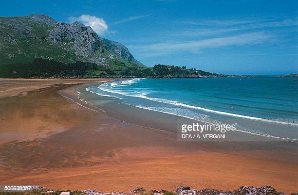 Beach in the Laredo area on the Cantabrian Sea Basque country Spain