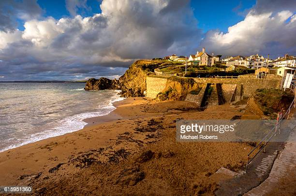 Beach in the seaside fishing village of Hope Cove in South Hams, Devon