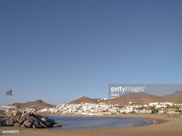 a beach in the town of san jose, almeria - san jose california stock pictures, royalty-free photos & images