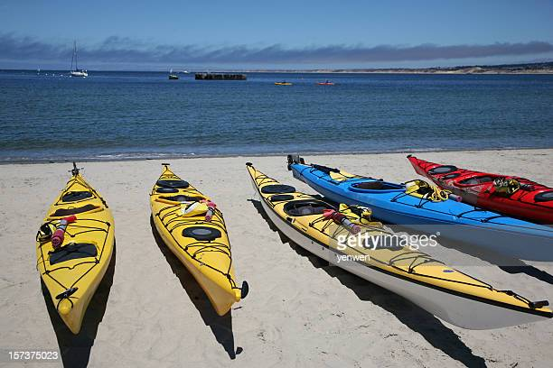 beach kayak - monterrey stock pictures, royalty-free photos & images
