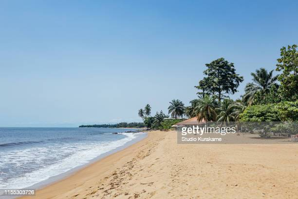 beach, kribi, cameroon - cameroun photos et images de collection