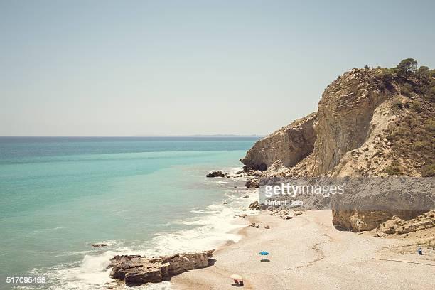 Beach La Caleta, Villajoyosa, Alicante, Spain