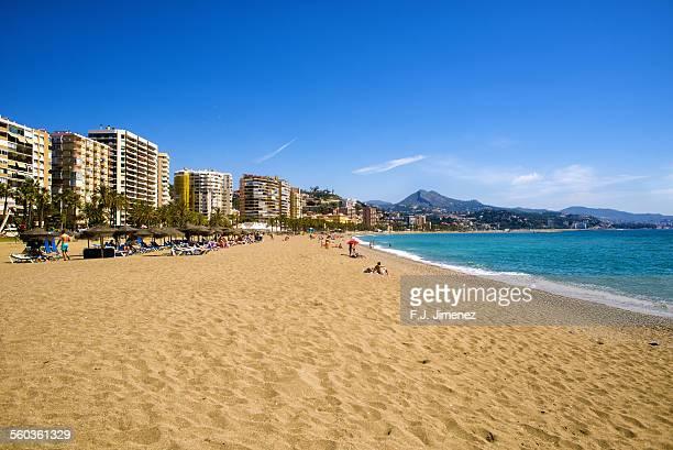 Beach ''La Malagueta'' in Malaga, Andalucia (Spain).