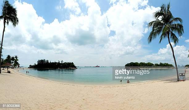 Beach Landscape at Sentosa Island Singapore