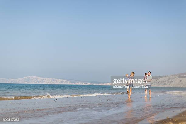 beach life, compton bay, isle of wight - compton bay isle of wight stock pictures, royalty-free photos & images