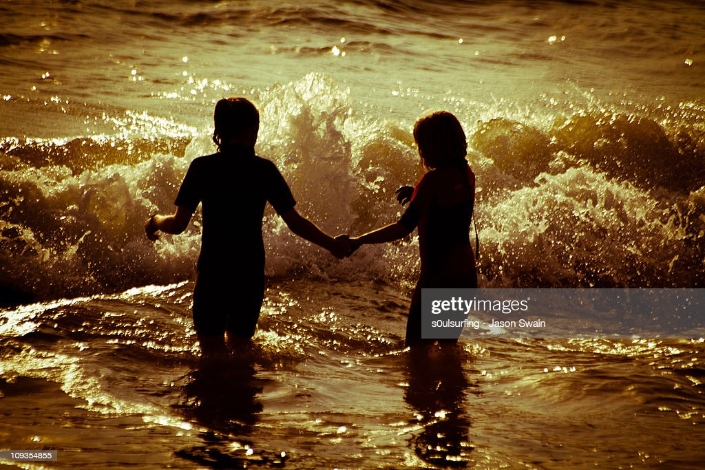 Beach life, friendship. : Stock Photo