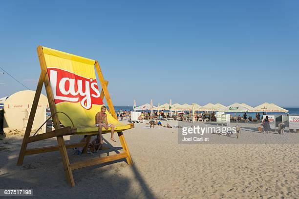 beach life in odessa, ukraine - odessa ukraine stock photos and pictures