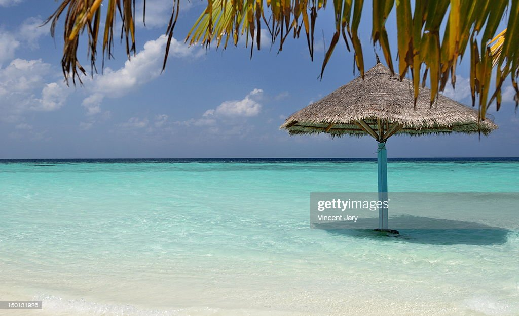 Beach Maldives islands : Foto de stock