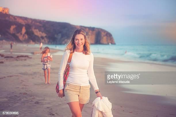Beach Mom Smiling