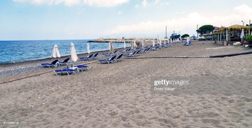 Strand In Der Nähe Von Bad Der Aphrodite In Polis Zypern Stock-Foto ...