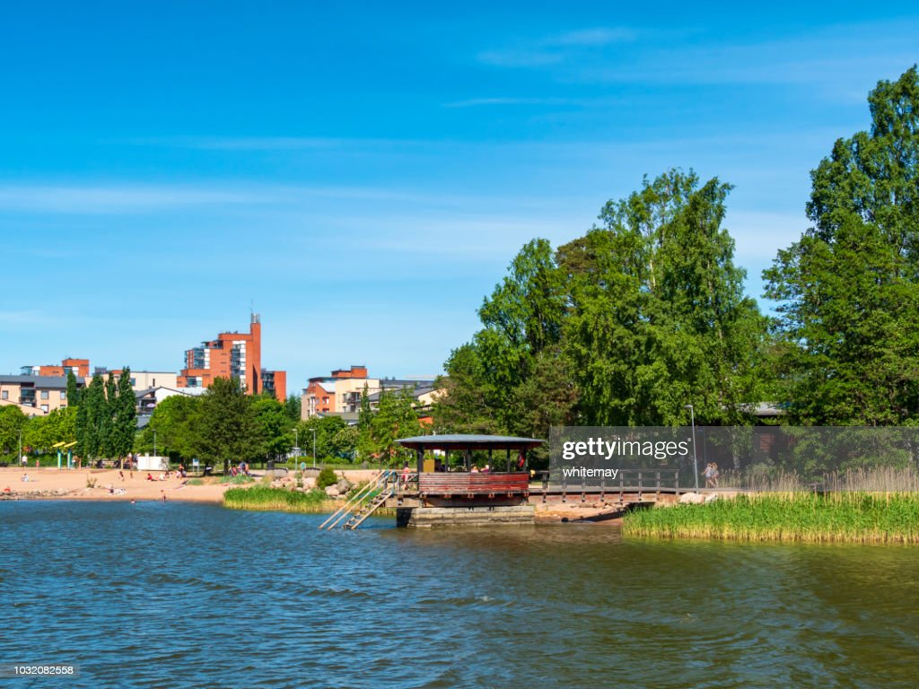Beach near Helsinki, Finland : Stock Photo