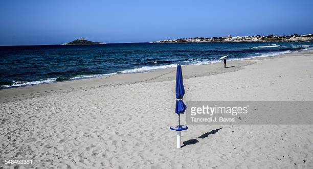 beach near the isola delle femmine - bavosi stock photos and pictures