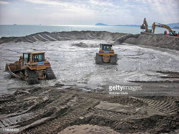 Beach nourishment, also sand replenishment. Italian beaches every year reduce their width because of erosion. For this reason, periodically, new sand...
