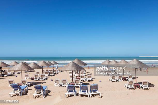 beach of agadir, morocco, north africa, africa - agadir stock pictures, royalty-free photos & images
