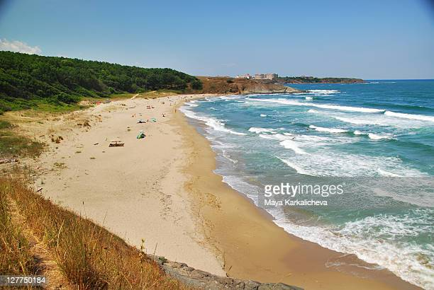 beach of black sea, bulgaria - bulgaria stock pictures, royalty-free photos & images