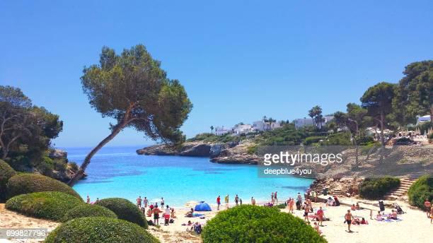 Strand von Cala Esmeralda Mallorca, Spanien