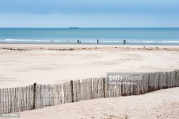 Beach of Calais in the department of Pas-de-Calais in Nord-Pas-de-Calais-Picardie region in Northern part of France