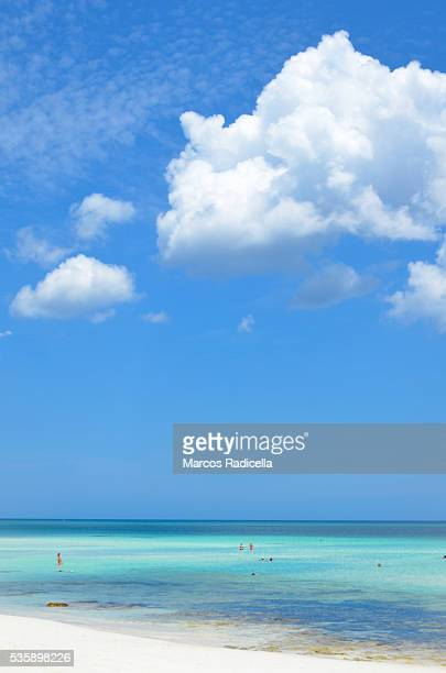 beach of cayo coco, cuba. - radicella stock photos and pictures
