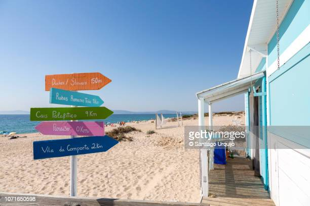 beach of comporta - comporta portugal stock photos and pictures
