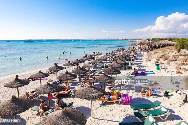Beach of Es Trenc on Mallorca, Spain