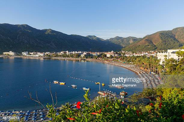 Beach of Icmeler near Marmaris, in the morning, Mugla Province, Aegean, Turkey