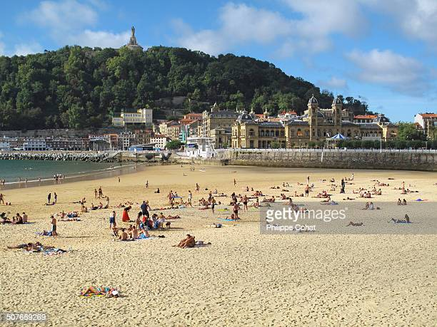 Beach of La Concha, San Sebastian.