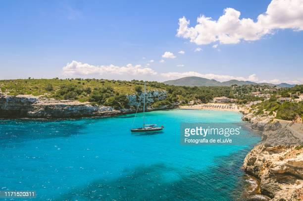 beach of mallorca - majorca stock pictures, royalty-free photos & images
