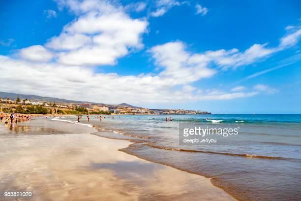 playa de maspalomas, gran canaria - isla de gran canaria fotografías e imágenes de stock