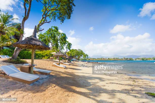 beach of mauritius - mauritius stock photos and pictures
