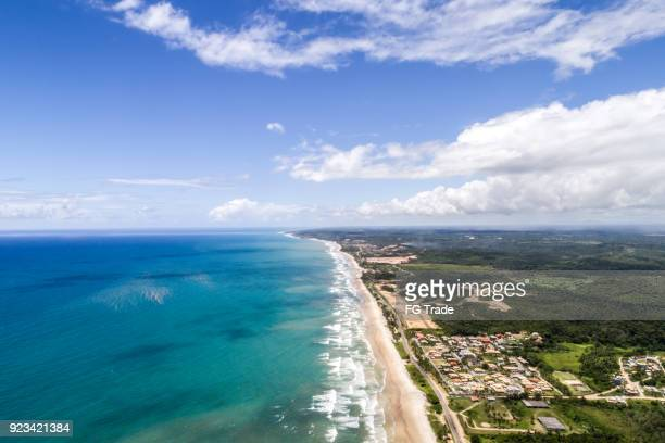 strand von milhonarios in ilheus, bahia, brasilien - nordöstliches brasilien stock-fotos und bilder
