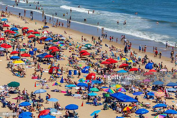 beach of ocean city md - ocean city maryland stock pictures, royalty-free photos & images