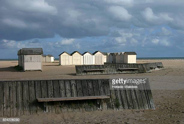 Beach of Ouistreham, Normandy, France.