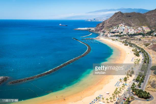playa de las teresitas beach - isla de tenerife fotografías e imágenes de stock