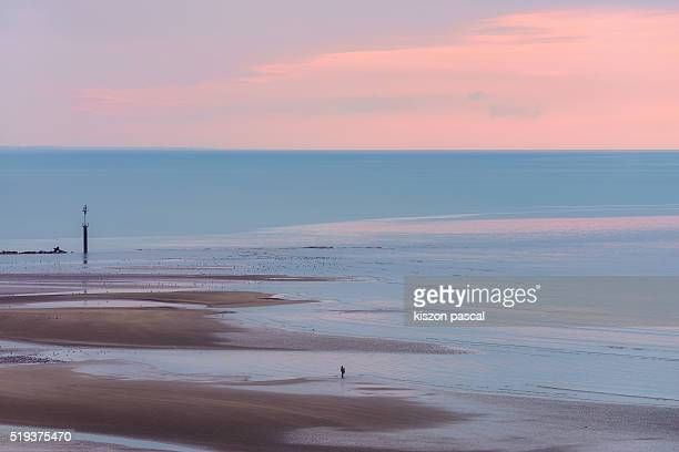 beach of Trouville , Deauville ( Normandy ; France )