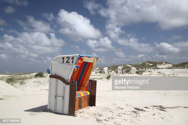 beach on amrum island - michael stock photos and pictures