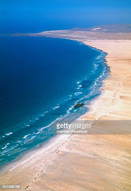 beach on boa vista island - cape verde stock pictures, royalty-free photos & images