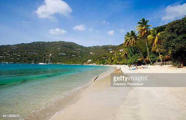 beach on cane garden bay - cane garden bay stock pictures, royalty-free photos & images