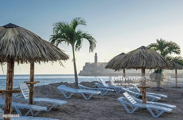 Beach on El Malecon of Havana