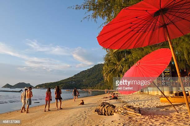 strand in kho tao, thailand - golf von thailand stock-fotos und bilder