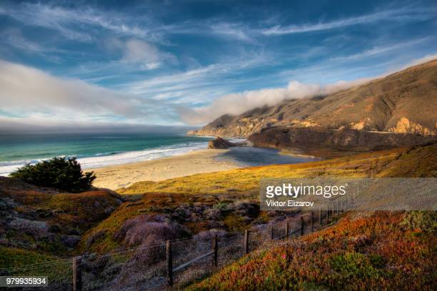 Beach on sunny day in autumn, Big Sur, California, USA