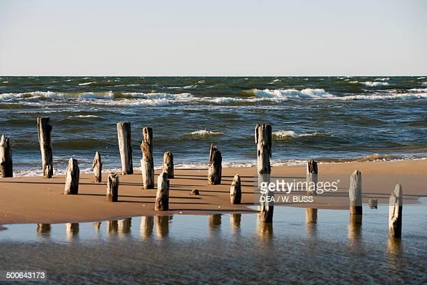 Beach on the Baltic sea near Cape Kolka Sikrags Slitere national park Kurzeme Region Latvia