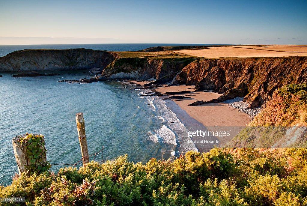 beach on the Pembrokeshire coast path : Stock Photo