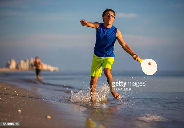 Beach paddle ball