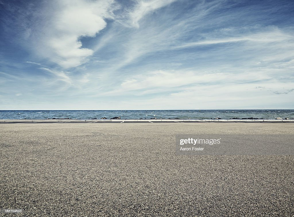 Beach Parking Lot : Stock Photo