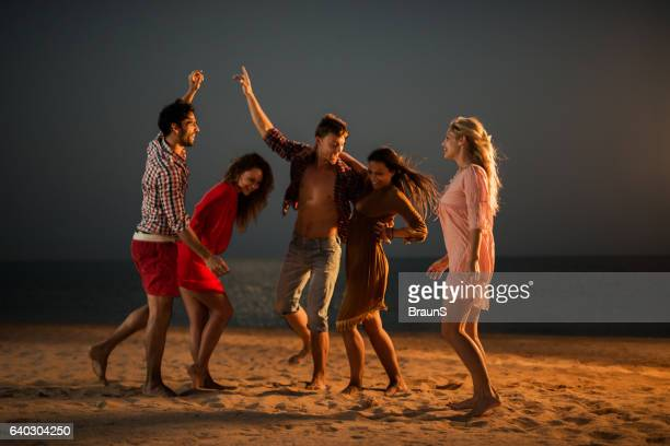 Beach party at night!