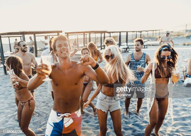 beach party in summer day! - beach party stock pictures, royalty-free photos & images